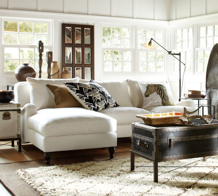 I love this coffee table and the rug.