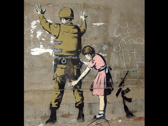 Desenho em muro de Belém, na Cisjordânia, uma das 11 ótimas cidades para ver street art