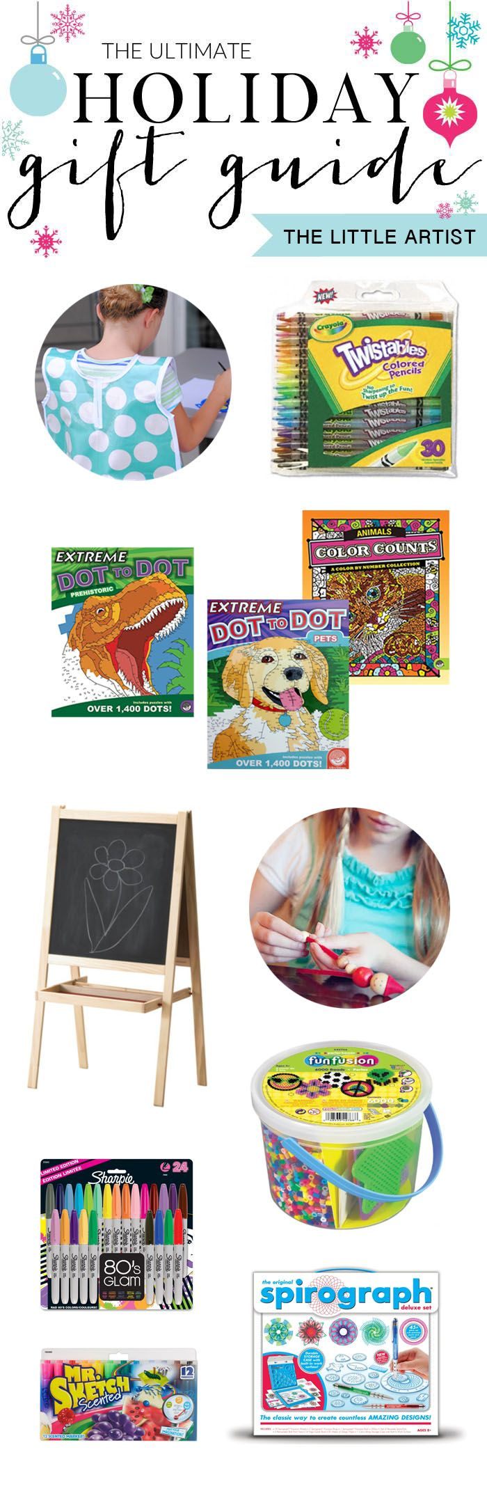 The Ultimate Holiday Gift Guide for the Little Artist on your List // Over 15 art and craft supplies that our family uses and loves.