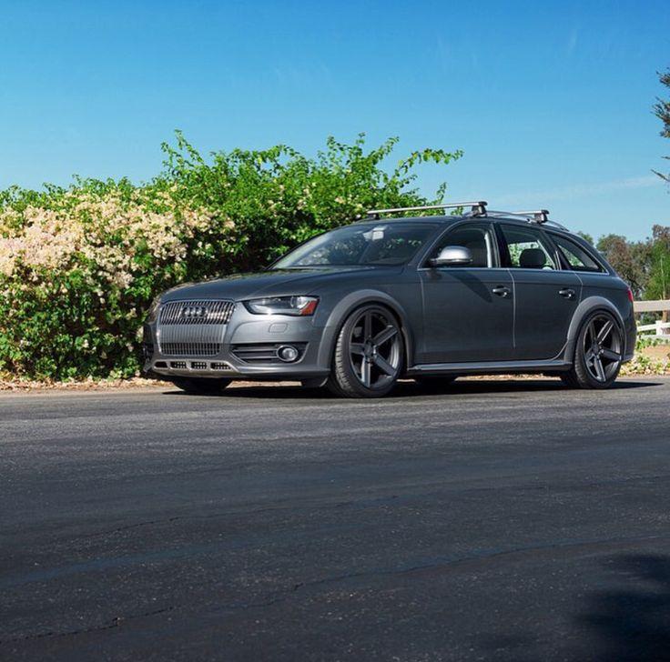 Gray Audi Allroad with TSW wheels