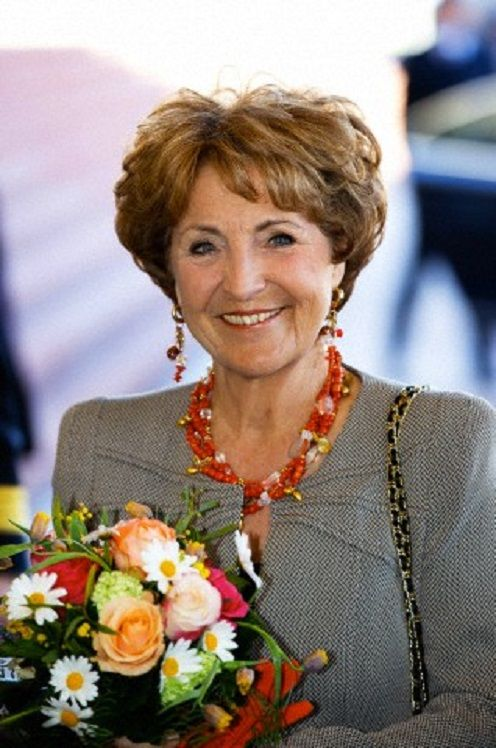 Dutch Princess Margriet at the opening of the renovated Town hall of Velsen in Ijmuiden, 26.03.14