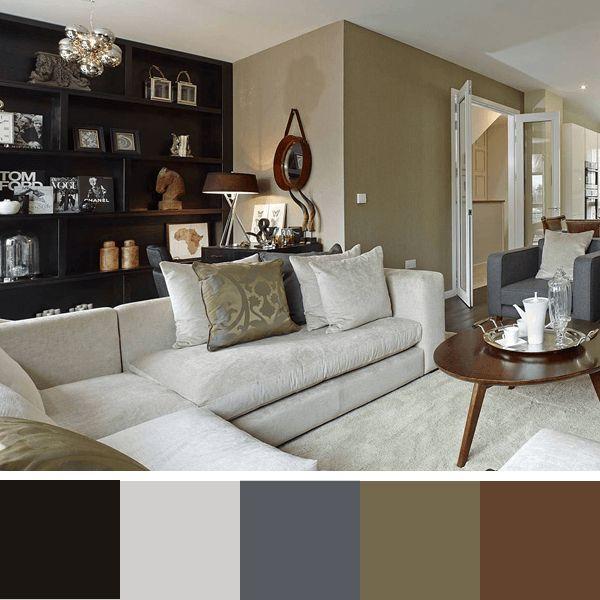25 melhores ideias sobre sala com sofa marrom no for Sala de estar neutra