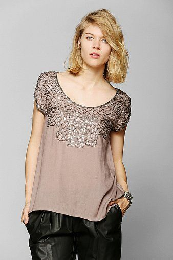 Angie Drapey Beaded Top