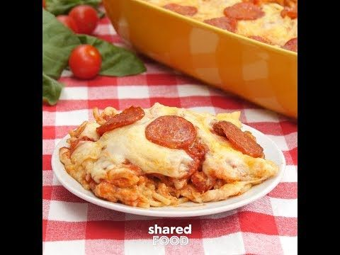 For Those Nights You Can't Decide Between Pizza or Pasta - Pizza Spaghetti Casserole Is Here to Stay!
