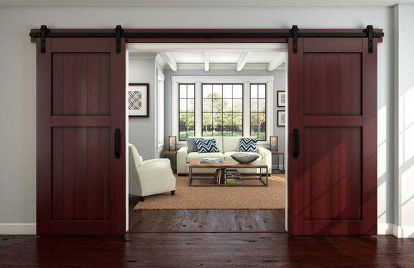 Un fascino rustico alla tua casa, grazie a queste porte scorrevoli.  [Credit photo: @buildcom on Twitter]
