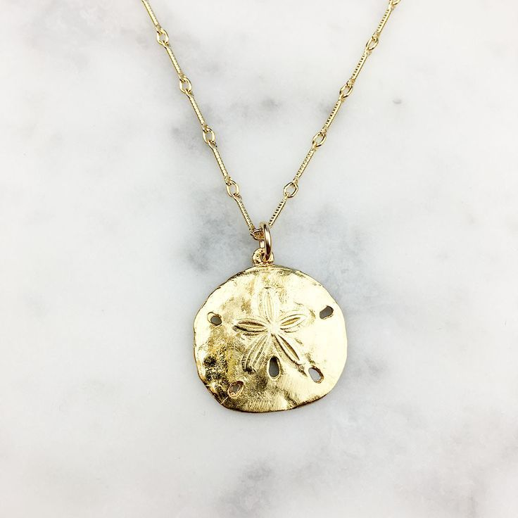 Sand Dollar Gold Necklace
