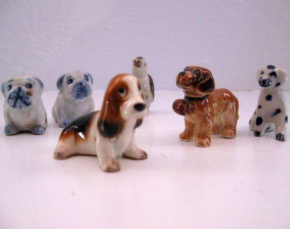 Hagen Renaker Hound cane Dalmation pinguino Bull Dog collezione minuscolo sacco