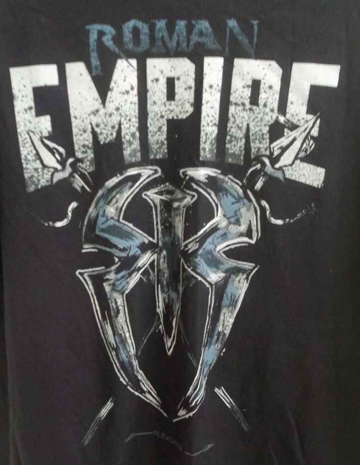 Roman Empire WWE T-Shirt Adult L Large Spare No One Spear Everyone