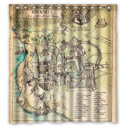 Harry Potter The Marauderu0027s Map Shower Curtain Aliexpress.com