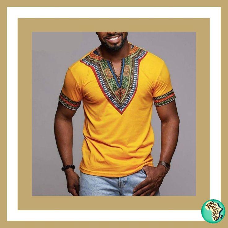 Summer Dashiki in 2020   African clothing for men, African ...