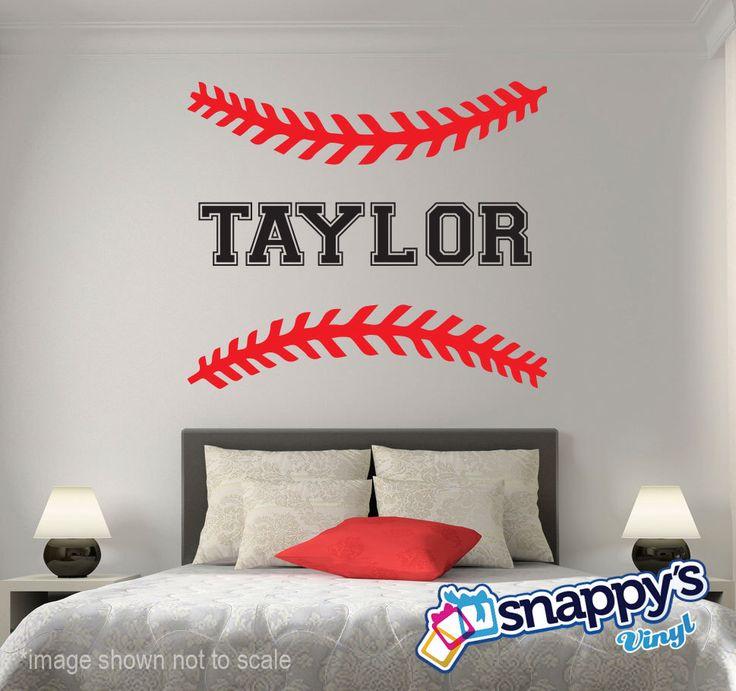 Personalized Baseball Softball Wall Decal
