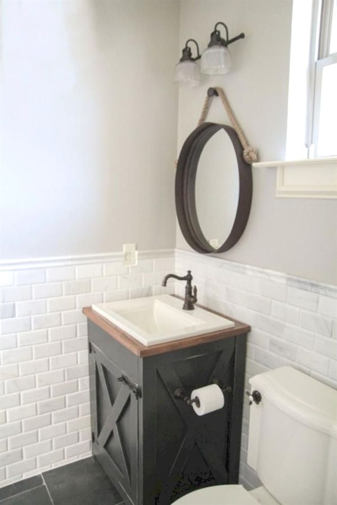 awesome modern farmhouse bathroom decor ideas rh pinterest com