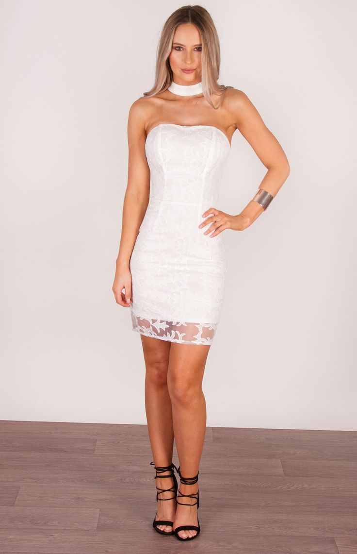 Parkville White Lace Dress Front Full