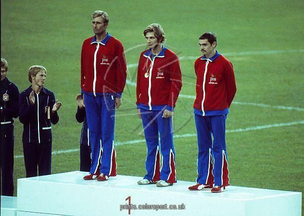 britains gold medal winning modern pentathlon team at the 1976