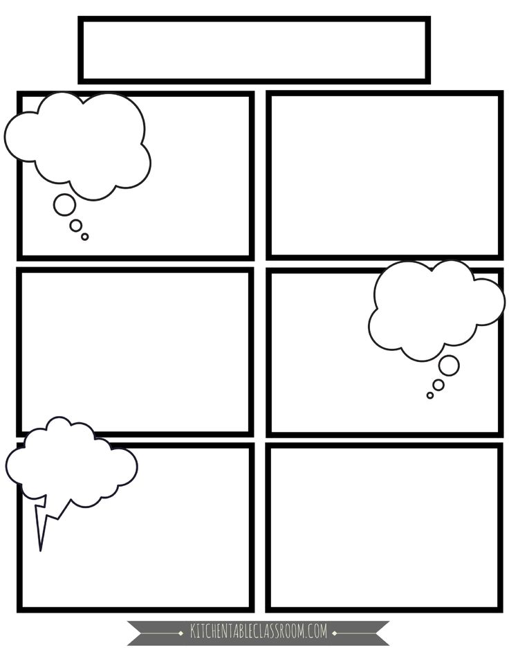 Comic Strip Template Printable Eliolera – Comic Strip Worksheet