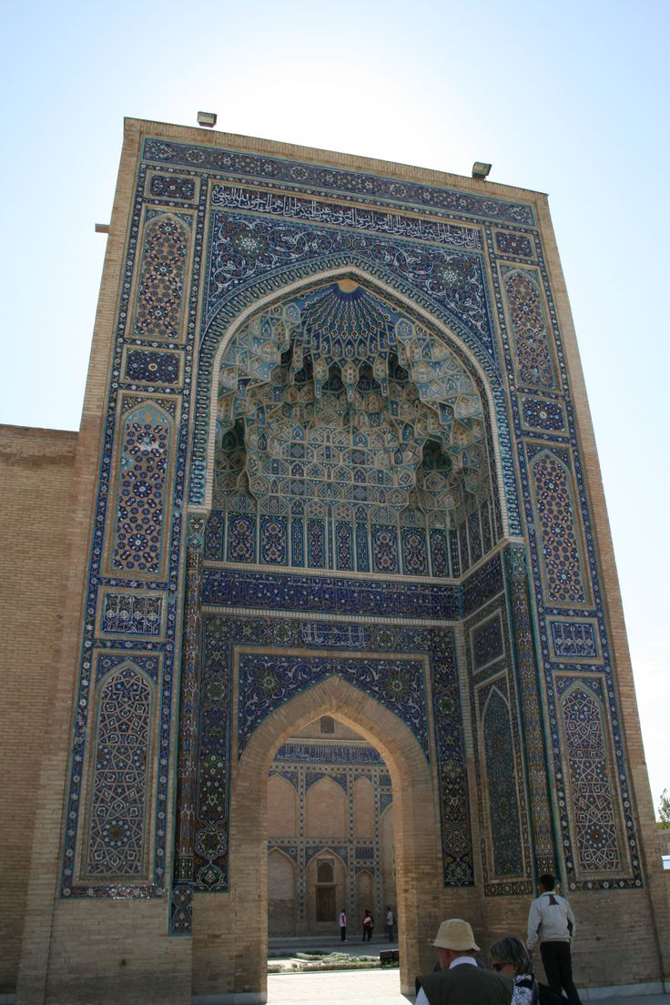 Entrance to Tamerlane's Tomb in Samarkand