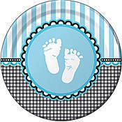 Sweet Baby Feet Blue Dinner Plates