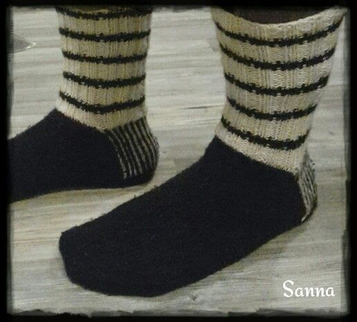 Norjalaisesta villalangasta sukat miehelle.