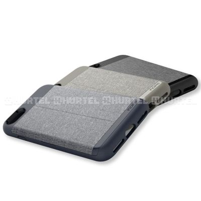 Incipio Esquire Series Wallet Case - Etui iPhone 7 z kieszenią na kartę (Heather Dark Gray)