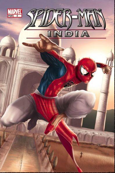 Spider-man India c'est une série de bande dessinée adaptée aux goûts de l'Asie du Sud, produite par Marvel Comics et illustrée par l'auteur indien de BD Jeevan J. Kang.