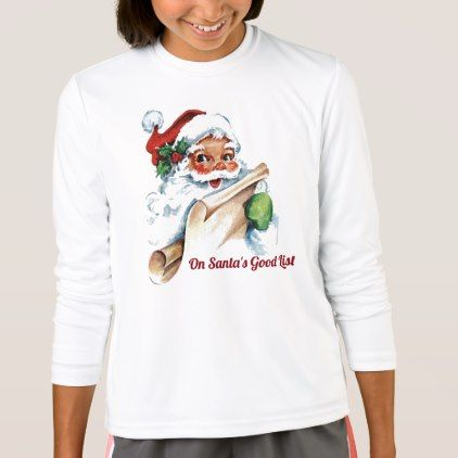 On Santa's Good List T-Shirt  $19.95  by WRAPPED_TOO_TIGHT  - cyo diy customize personalize unique