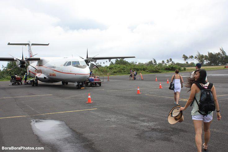 Air Tahiti Nui from Moorea to Bora Bora Flight