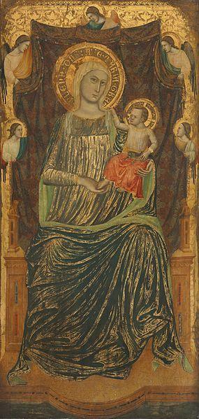 Giovanni Baronzio, Madonna col Bambino e cinque angeli ( 1335 circa ).