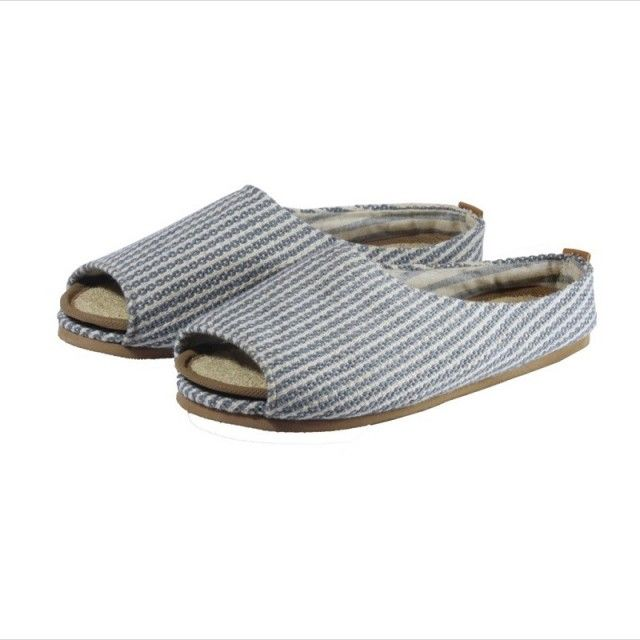 Eco Friendly Slippers made of upcycled materials.