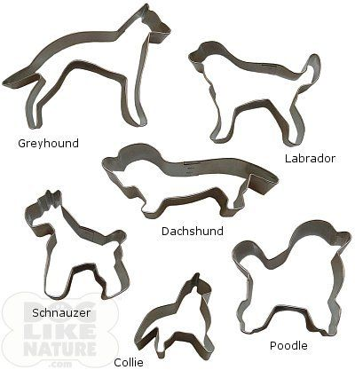 Dog Breed Cookie Cutters   dogs cookie cutter with tin collie cookie cutter poodle cookie cutter ...