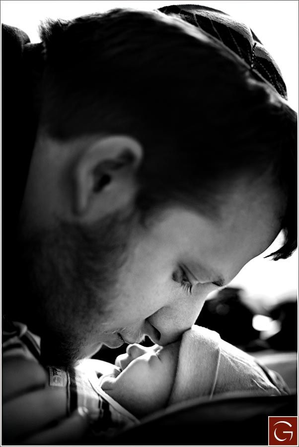 A tender moment between a father and his newborn son (Bris)  - Greg Gibson Photography