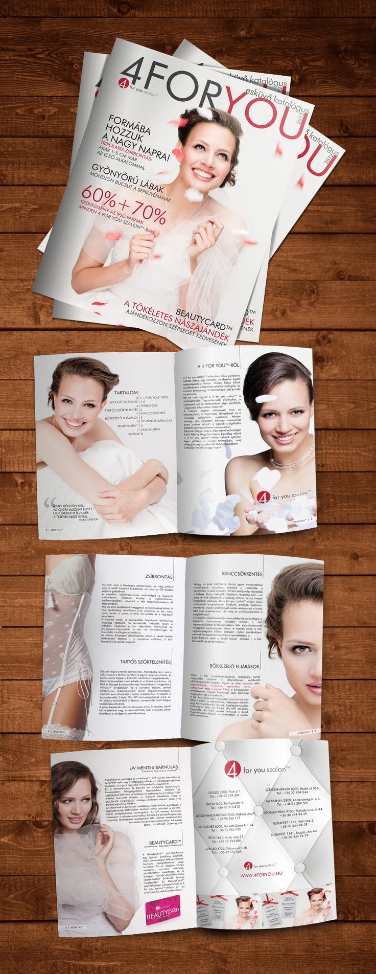 Beauty Salon Catalog Magazine Wedding Layout