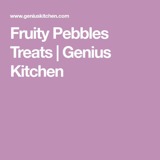 Fruity Pebbles Treats | Genius Kitchen