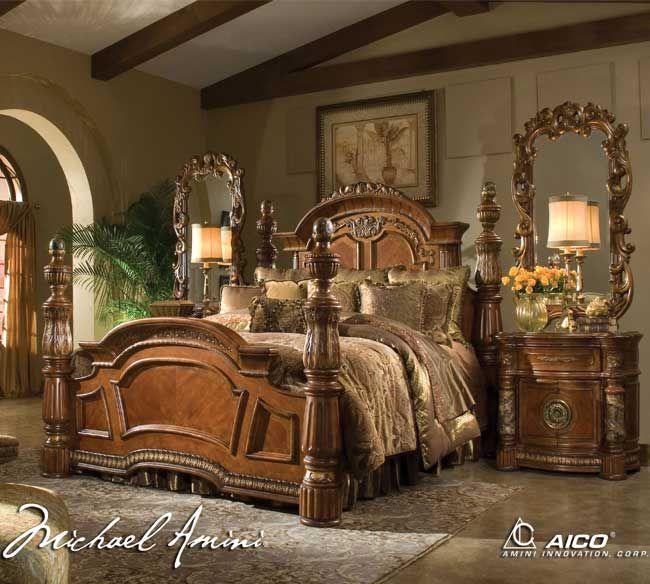 michael amini excelsior collection bedroom michael amini villa valencia poster bedthis - Michael Amini
