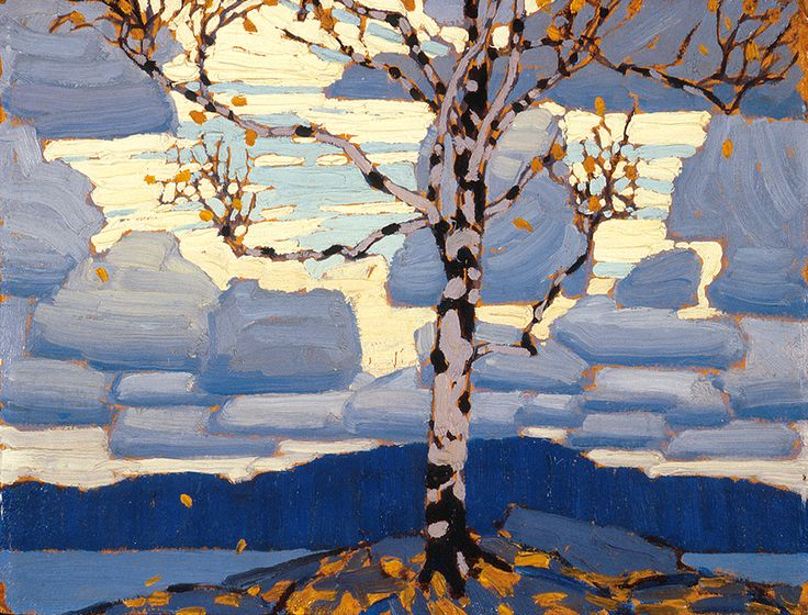 "LAWREN  HARRIS:  ""Birch Tree,"" c. 1916, Art Gallery of Ontario, Toronto."