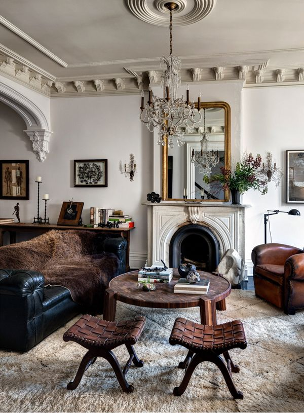 Vintage eclectic living room decor pinterest for Pictures of eclectic living rooms