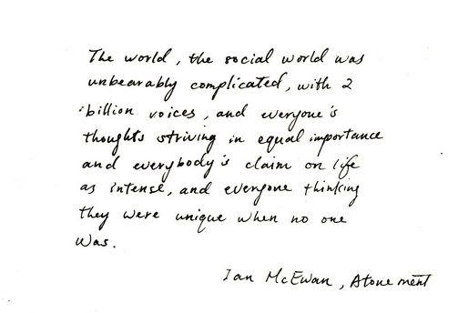 Atonement Ian Mcewan Book Quotes. QuotesGram