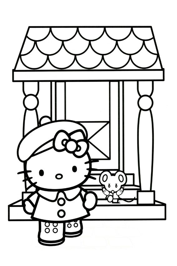 Hello Kitty Baking Coloring Pages : Best images about travel on pinterest coloring pages
