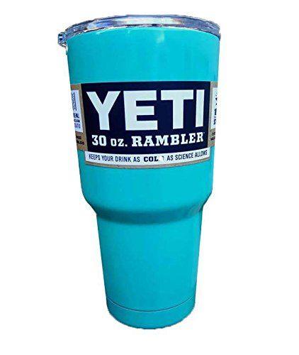 YETI Coolers Rambler Tumbler, Stainless Steel, 30oz, One Size (Teal Blue) Yeti