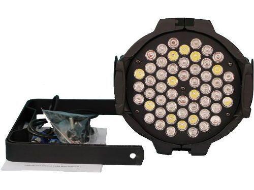 Canhão PAR64 Slim 54 LEDs 3W RGBWA DMX Rítmico R$ 360. 7 canais DMX, automático, áudio-rítmico, master-slave, alça dupla. Comprar em http://www.aririu.com.br/canhao-par-led-64-slim-54-leds-3w-rgbwa-dmx-audioritmico-9741256xJM