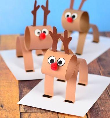 Easy 3D paper strip reindeer craft for kids // Egyszerű térbeli papír rénszarvas - kreatív ötlet gyerekeknek // Mindy - craft tutorial collection // #crafts #DIY #craftTutorial #tutorial #SantaCrafts #Santa #ChristmasCrafts #Mikulás #Télapó