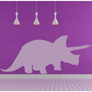 Наклейка для дома от 2stick.ru Доисторический динозавр трицератопс силуэт