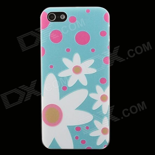 Color: Cyan + White; Brand: N/A; Model: N/A; Quantity: 1 Piece; Material: PC; Shade Of Color: Cyan; Compatible Models: IPHONE 5S,IPHONE 5; Design: Mixed Color,Matte,Graphic,Graffiti,Cartoon; Style: Back Cases; Packing List: 1 x Back case; http://j.mp/VIOF90