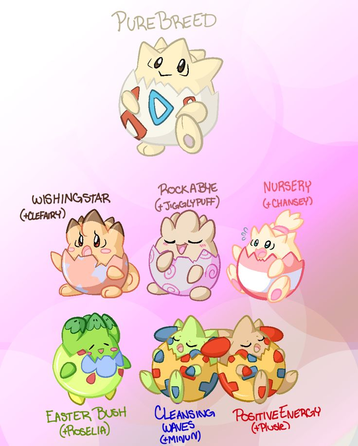 "paintsplatteredponies: "" Some more variations! These babies are, as always, totally viable babies! Every variation here is based off the Fairy Egg Group! These lil ones are based off the lower-most..."