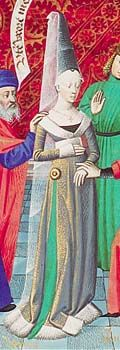 Burgundian gown, again with a side slit