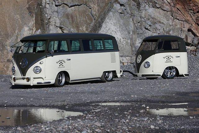 VW Camper and Mini Me trailer