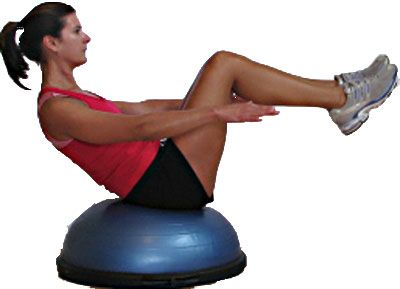 Beginner BOSU Balance Trainer Exercises - Challenge Your Balance, Core Strength and Stability