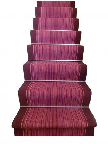 Stipey carnaby purple stair #carpet runner will brighten up your home #décor so much!