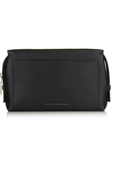 Victoria Beckham Estée Lauder - Textured-leather Cosmetics Case - Black - one size