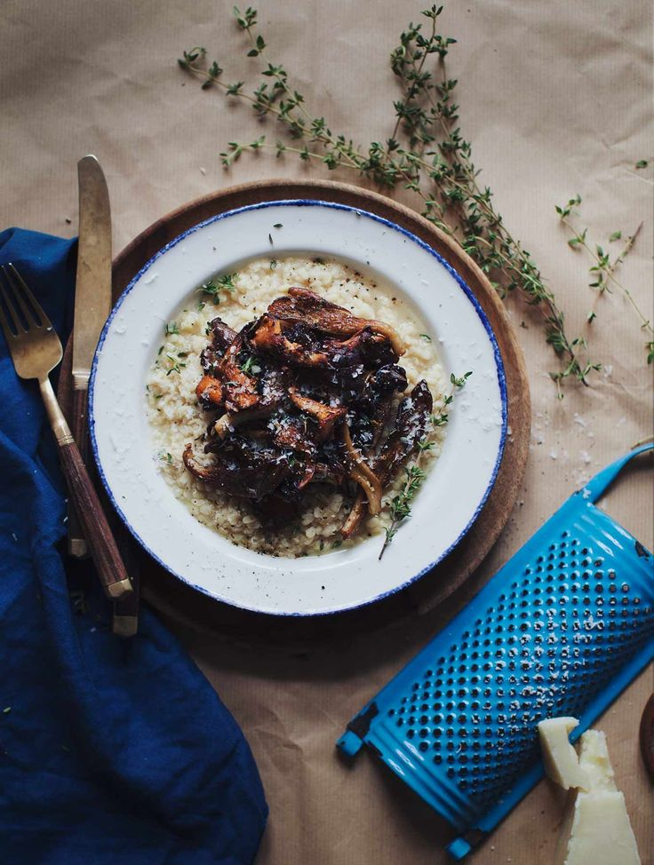 White Lentil Risotto with Mushrooms | My New Roots | Bloglovin'