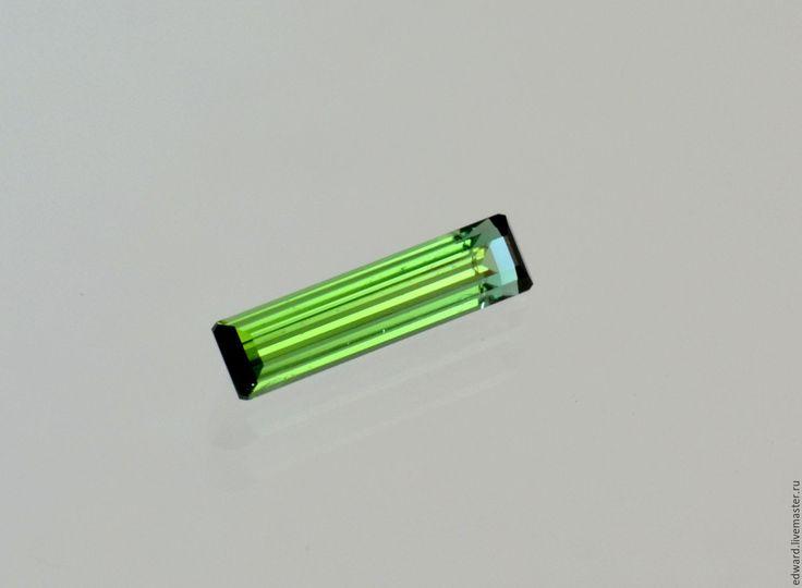 Купить Турмалин 1,20 карат. - зеленый, турмалин, огранка, огранка на заказ, ручная работа